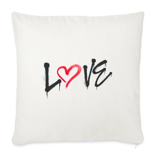 Love - Cojín de sofá con relleno 44 x 44 cm
