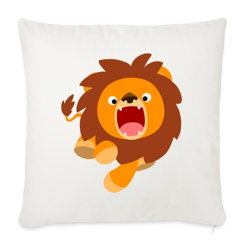 Cute Frisky Cartoon Lion by Cheerful Madness!! - Sofa pillow with filling 45cm x 45cm