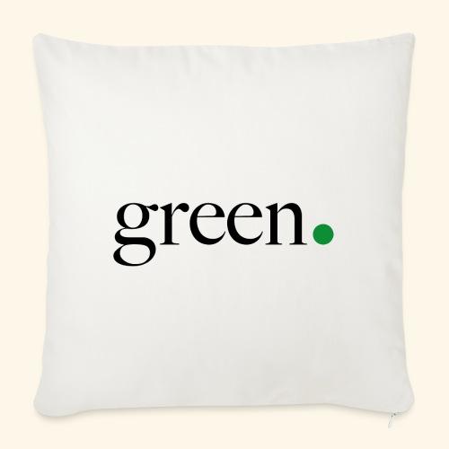 Green - Coussin et housse de 45 x 45 cm