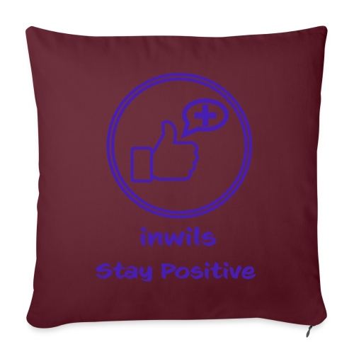 Purple Inwils Stay Positive - Sofa pillow with filling 45cm x 45cm