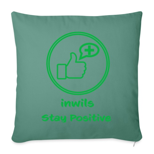 Green inwils Stay Positive Logo - Sofa pillow with filling 45cm x 45cm