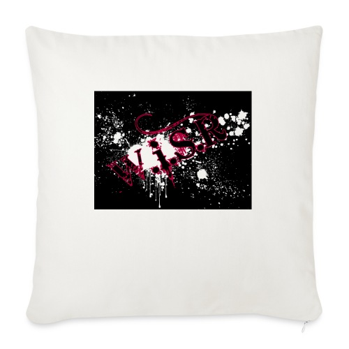 wisr puna musta splash t-paita - Sohvatyynyt täytteellä 44 x 44 cm