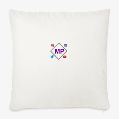 MP logo with social media icons - Sofa pillow with filling 45cm x 45cm
