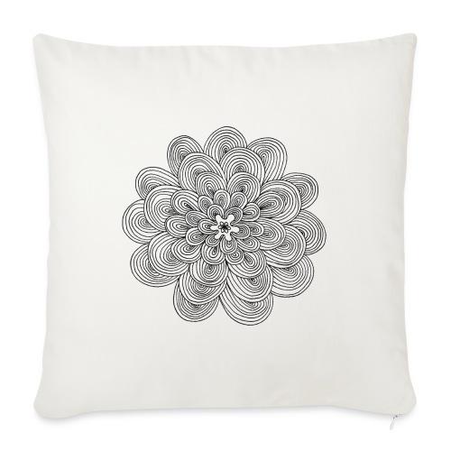 hypnotic flower - Cuscino da divano 44 x 44 cm con riempimento