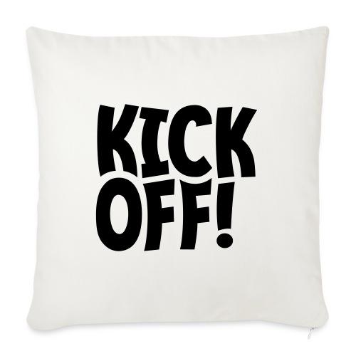 Slogan Kick off. Aftrap of meeting concept. - Bankkussen met vulling 44 x 44 cm