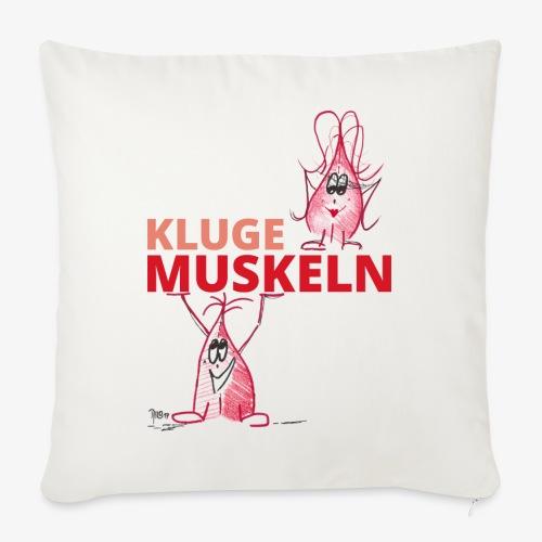 Kluge Muskeln - Sofakissen mit Füllung 44 x 44 cm