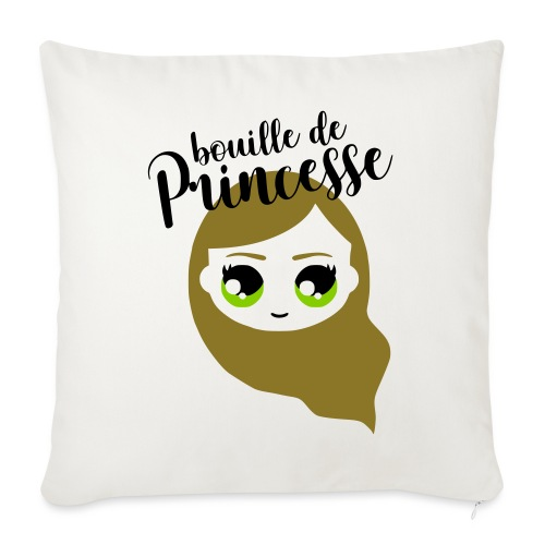 Bouille de princesse (couleurs personnalisables) - Coussin et housse de 45 x 45 cm