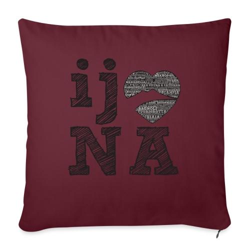 Ij amo Napule - Cuscino da divano 44 x 44 cm con riempimento