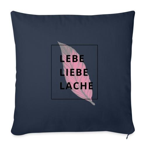 LEBE LIEBE LACHE - Sofakissen mit Füllung 44 x 44 cm
