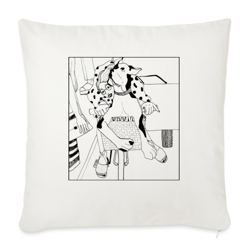 Beauty on a bicycle - Sofa pillow with filling 45cm x 45cm