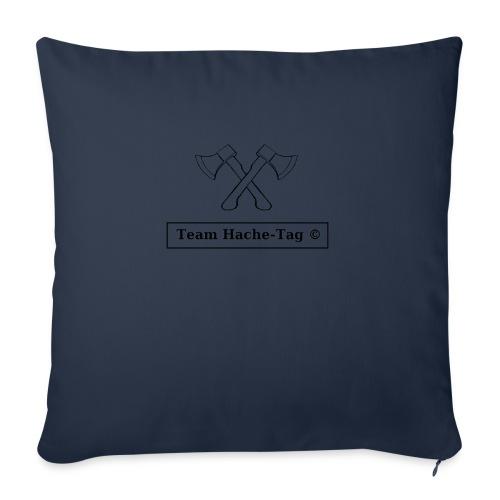 Logo Team Hache-Tag - Coussin et housse de 45 x 45 cm