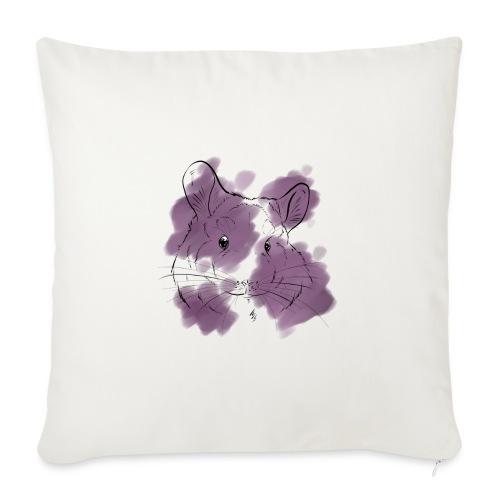 Violet splash chinchilla - Sohvatyynyt täytteellä 44 x 44 cm