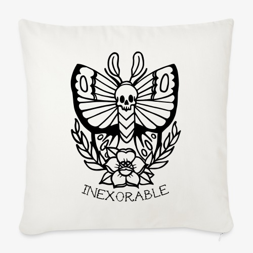 Traditional Tattoo Moth - Sofa pillow with filling 45cm x 45cm