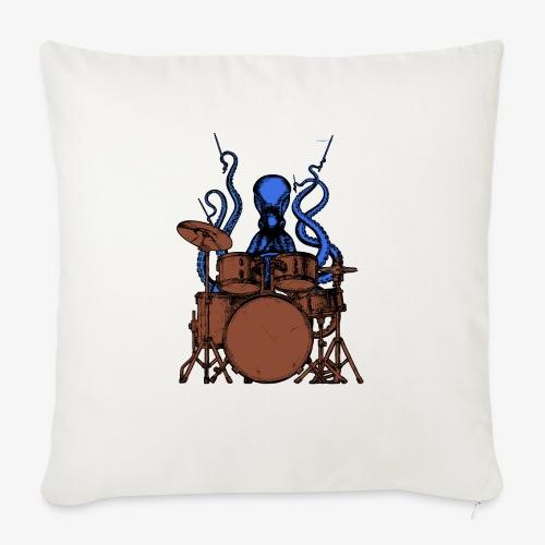 Oktopus spielt Schlagzeug - Sofakissen mit Füllung 44 x 44 cm