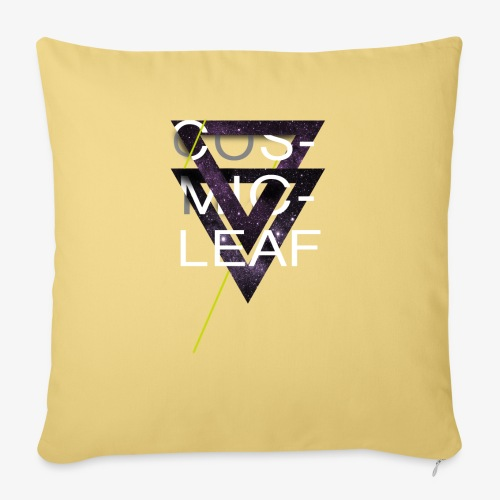 Cosmicleaf Triangles - Sofa pillow with filling 45cm x 45cm