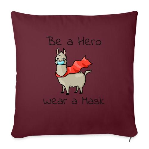 Sei ein Held, trag eine Maske - fight COVID-19 - Sofakissen mit Füllung 44 x 44 cm
