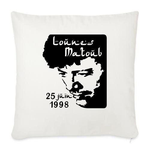 Motif hommage à Lounes Matoub - Coussin et housse de 45 x 45 cm