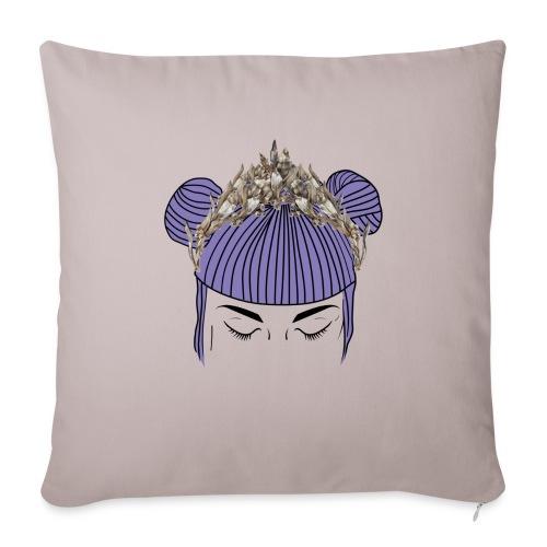 Queen girl - Cojín de sofá con relleno 44 x 44 cm