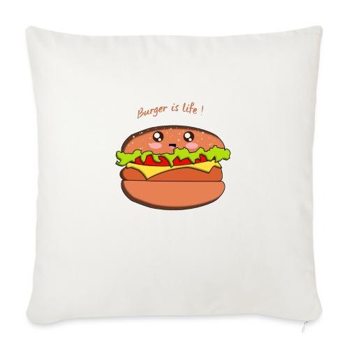 hamburger - Coussin et housse de 45 x 45 cm
