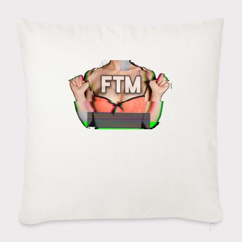 FTM logo - Cuscino da divano 44 x 44 cm con riempimento