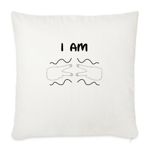 I Am Autism (Black) - Sofa pillow with filling 45cm x 45cm