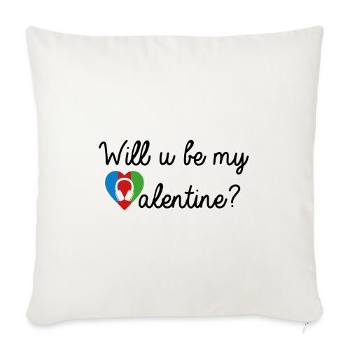 Valentine blk - Sofakissen mit Füllung 44 x 44 cm