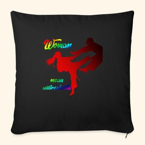 woman mean unbreakable - Cuscino da divano 44 x 44 cm con riempimento
