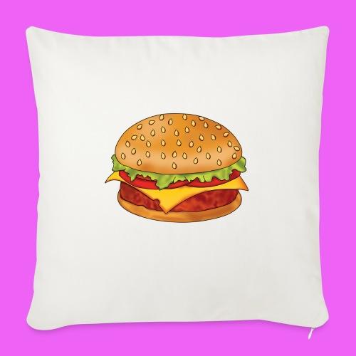 hamburguesa - Cojín de sofá con relleno 44 x 44 cm