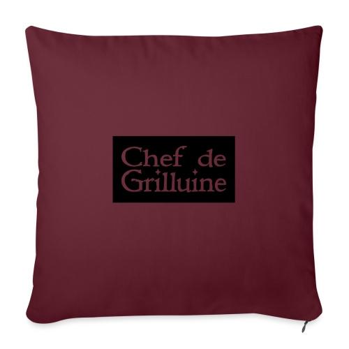 Chef de Grilluine - der Chef am Grill - Sofakissen mit Füllung 44 x 44 cm
