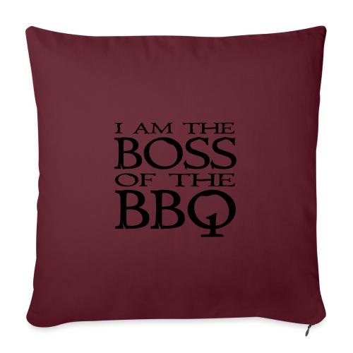I am the Boss of the BBQ - der Chef am Grill - Sofakissen mit Füllung 44 x 44 cm
