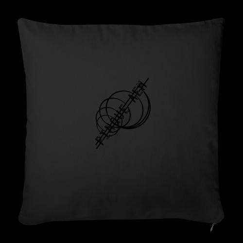 Pinque AEM NERO - Cuscino da divano 44 x 44 cm con riempimento