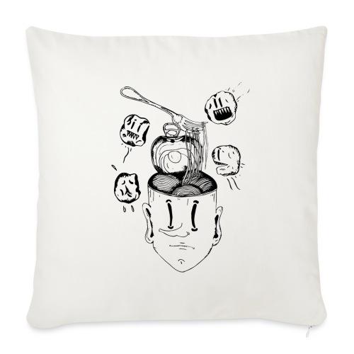 Spaghetti head - Sofa pillow with filling 45cm x 45cm