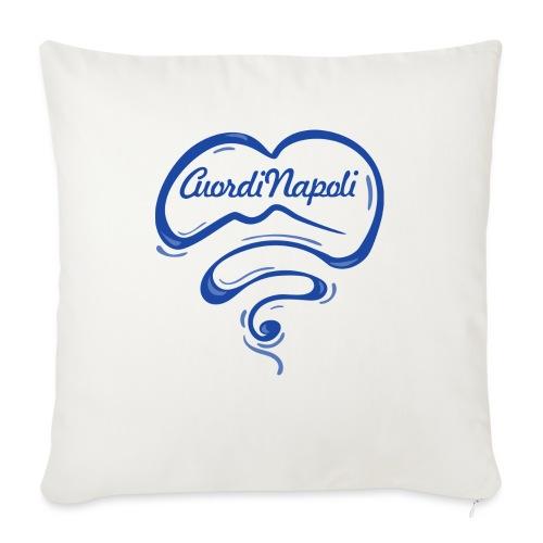 New Logo CuordiNapoli Blu - Cuscino da divano 44 x 44 cm con riempimento