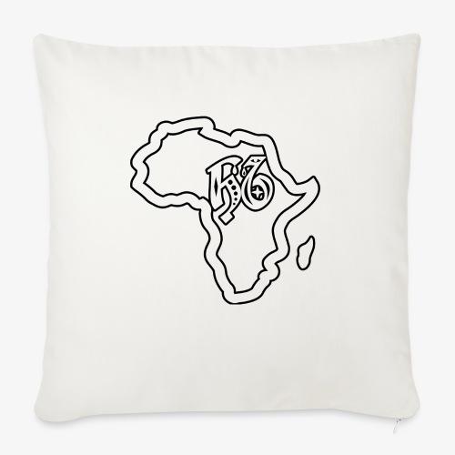 afrika pictogram - Bankkussen met vulling 44 x 44 cm