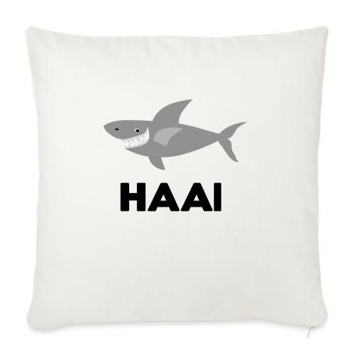 haai hallo hoi - Bankkussen met vulling 44 x 44 cm