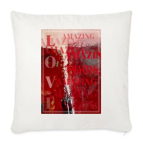 Love Amazing - Soffkudde med stoppning 44 x 44 cm
