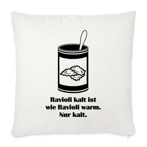 Kalte Ravioli - Schwarz - Sofakissen mit Füllung 44 x 44 cm