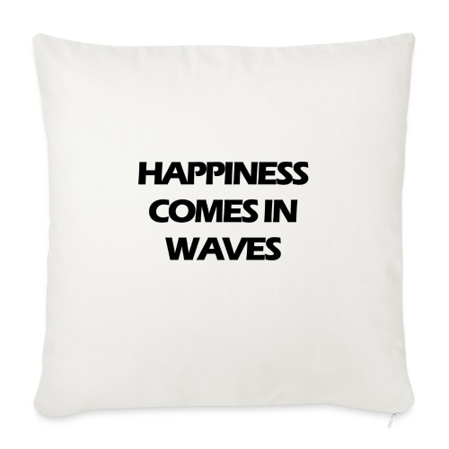 Happiness comes in waves - Soffkudde med stoppning 44 x 44 cm