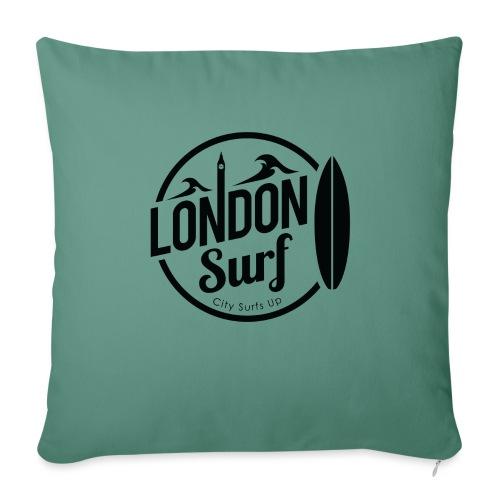 London Surf - Black - Sofa pillow with filling 45cm x 45cm