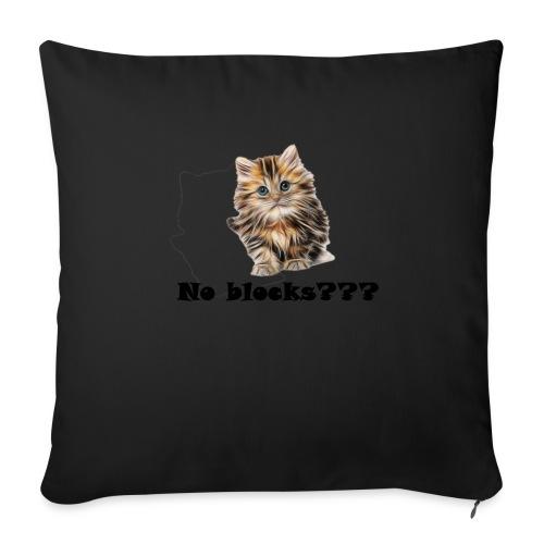 No block kitten - Sofapute med fylling 44 x 44 cm
