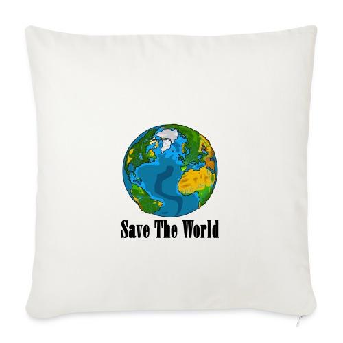Save The World-Planet - Soffkudde med stoppning 44 x 44 cm