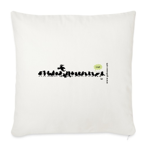 Corvids - it's a crowd! - Sofa pillow with filling 45cm x 45cm