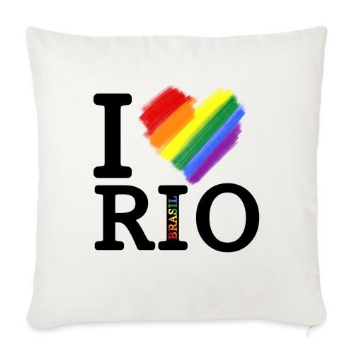I love Rio - Cojín de sofá con relleno 44 x 44 cm