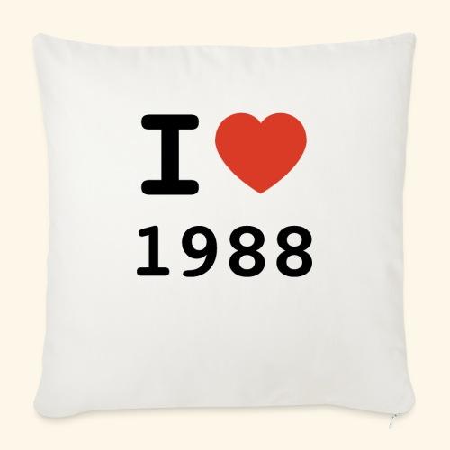 I Love 88 b 001 - Sofakissen mit Füllung 44 x 44 cm