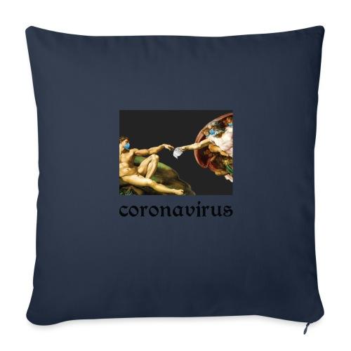 coronavirus, коронавирус, its coronatime, covi 19 - Sofa pillow with filling 45cm x 45cm