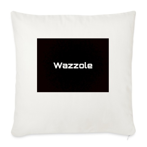 Wazzole plain blk back - Sofa pillow with filling 45cm x 45cm