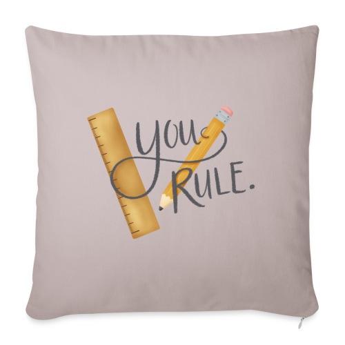 You rule! - Soffkudde med stoppning 44 x 44 cm