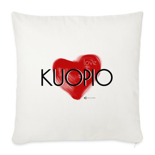 Love Kuopio teksti keskellä - Sohvatyynyt täytteellä 44 x 44 cm