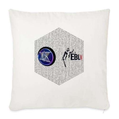 disen o dos canales cubo binario logos delante - Sofa pillow with filling 45cm x 45cm