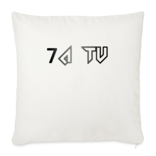 7A TV - Sofa pillow with filling 45cm x 45cm